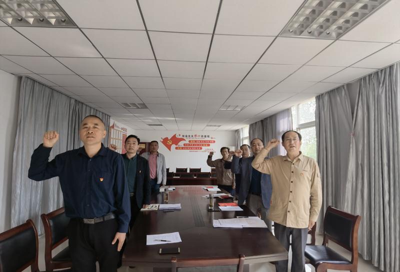 学史悟初心  奋进正当时 鑫海公司、鼎顺公司联合开展主题党日活动